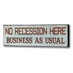 no recession